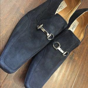 Fratelli Blue Suede Leather Slip On Size Sz 11 M